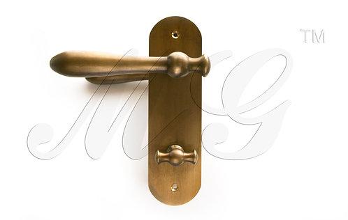 """Ручка дверная поворотная лофт """"Лагрима"""" на планке с вертушкой"""