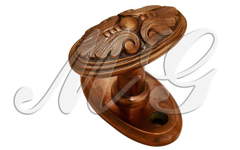 Ручка историческая оконная латунная поворотная