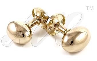 Ручка дверная кноб Яйцо золото купить в Санкт-Петербурге у производителя