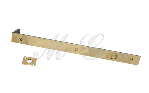 Шпингалет врезной облатуненный 30х400 мм