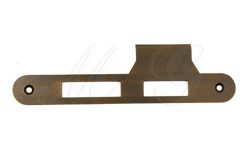 Накладка латунная к замку с ригелем и защелкой или роликом