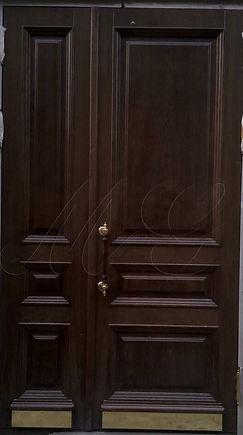 Ручка дверная большая с деревянной встав