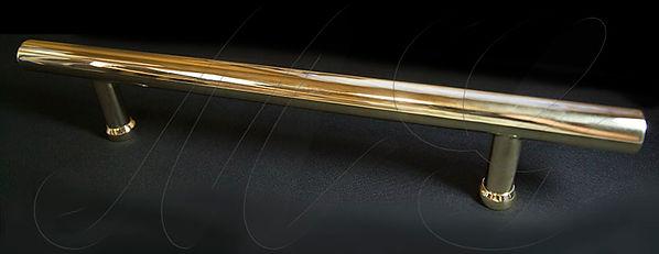Ручка дверная большая латунная под золот