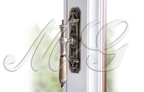 Ручка оконная литая эксклюзив для современных окон купить заказать под бронзу фото