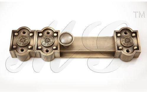 Засов дверной большой 250х80 мм латунный