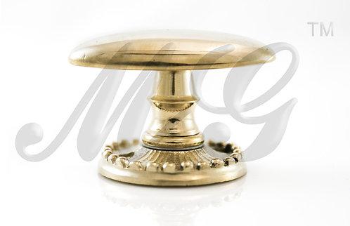 Ручка каминная Эллипсная  на розетке с бисером