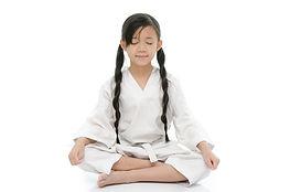 Traverse City Taekwondo girl meditating