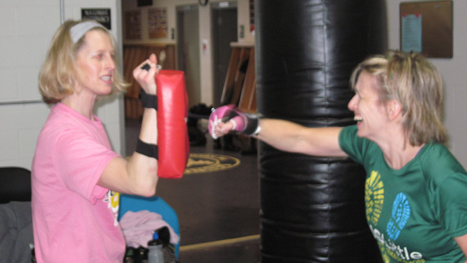 Traverse City Combat Kickboxing Class - Like Training For A Fight But You Never Get Hit.