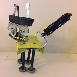 Scap metal cat