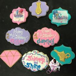 Shimmer & Shine cookies for little Skyler & Journey 🍪💙💖💎