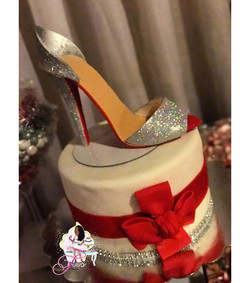 High heel shoe 👠 cake 🎂❤️ for Betty's 60th!