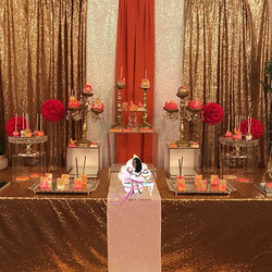 Such a beautiful setup for Jasmine's 30th birthday party 🎉🎂💖✨