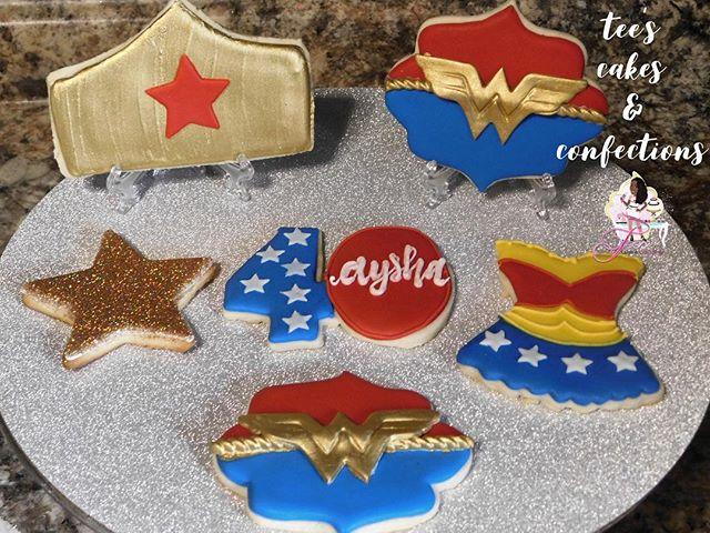 Wonder Woman Themed Cookies