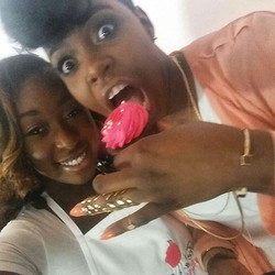 Ta'Rhonda aka Porscha from Empire eating my cupcake 😍😍😍 _flygirl1988