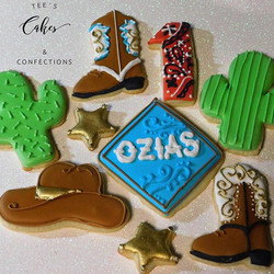 My 1st Rodeo Cookies for Ozias 🍪🤠🌵🌟👢