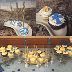 Church Anniversary cupcakes & cakepops for sweets table 💙💛✨🎂😋🙏🏾