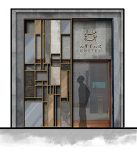 Attar Service Center- facade design