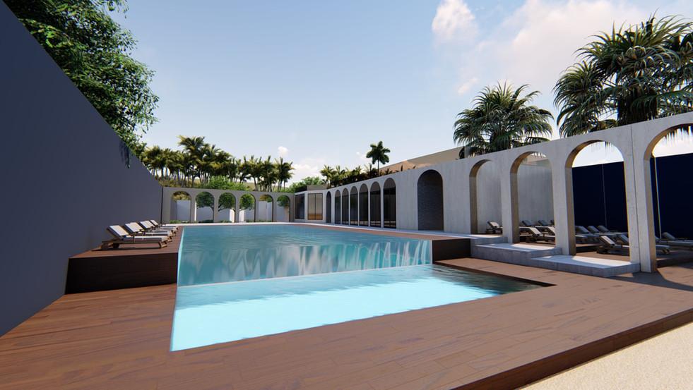 Beach Resort- pool side 02