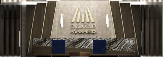 Mashied- reception desk elevation