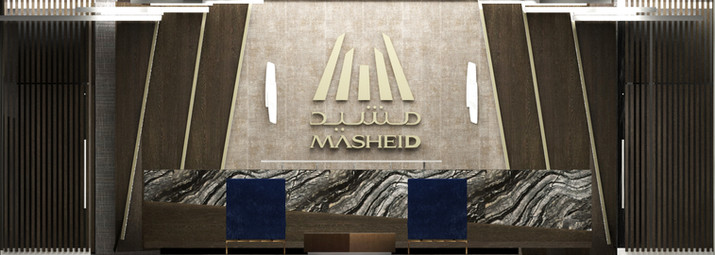Mashied- reception desk elevation