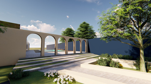 Beach Resort- garden area 02