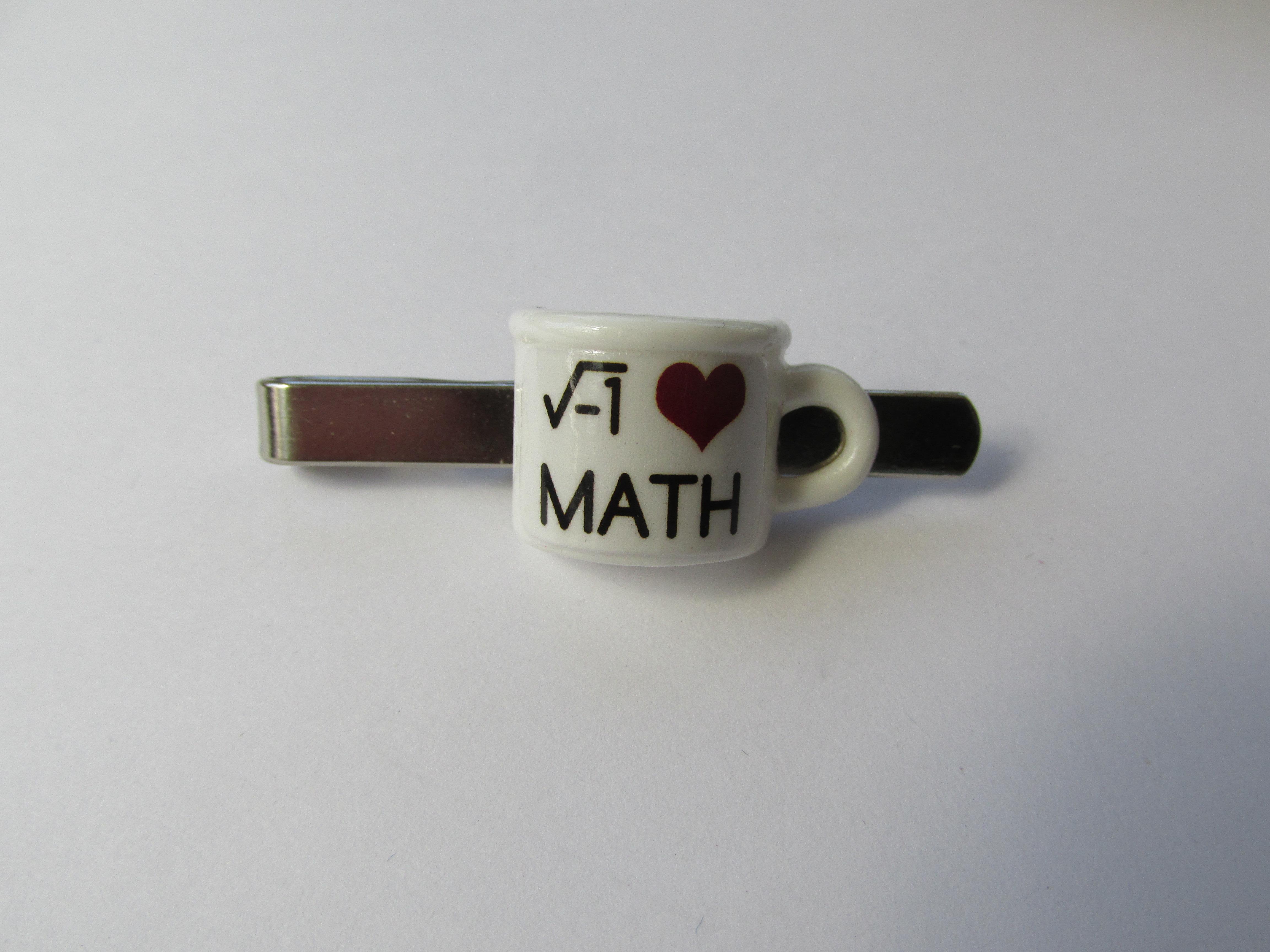 Handmade Novelty Cuppa Cup Of Tea Maths Inspired Teacher Tie Pin Clip Purplepetal