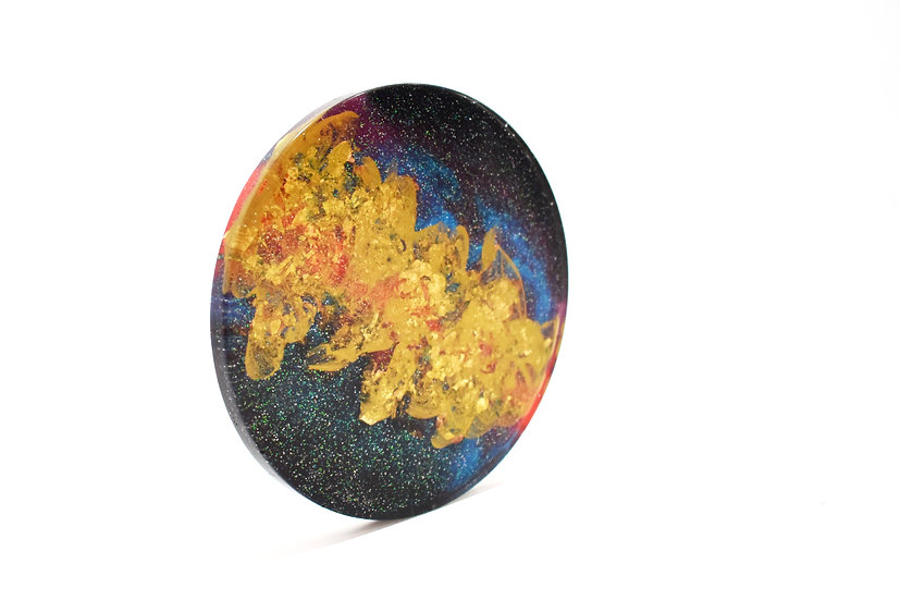 Golden Nebula Coasters (4 Set)