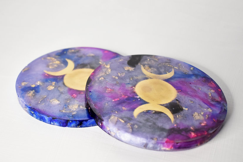 Moon Goddess Coasters (4 Set)