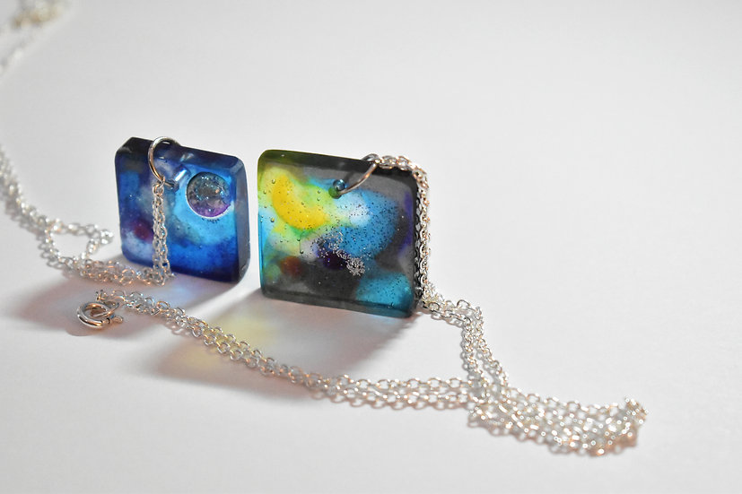 Galaxy Square Necklace