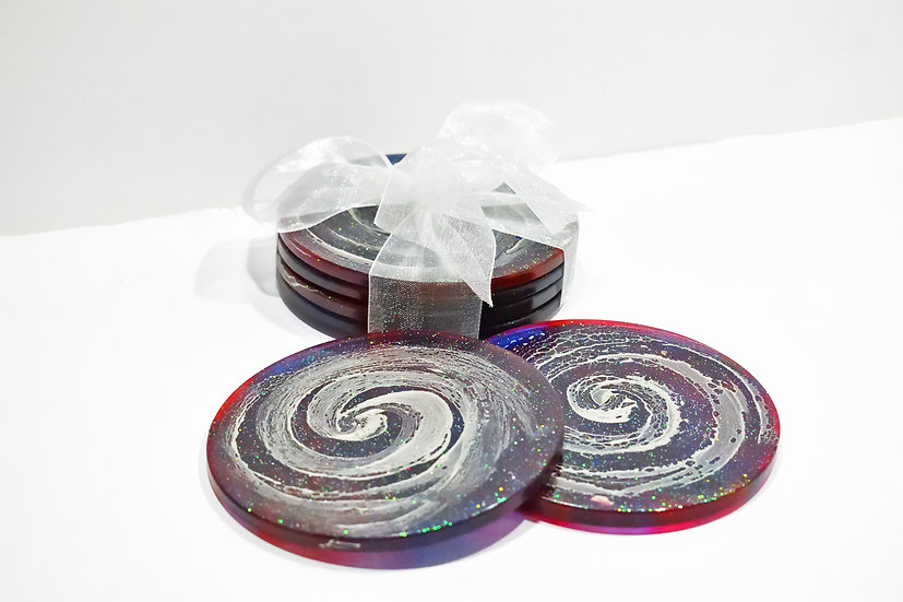 Milky Way Galaxy Coasters (4 Set)