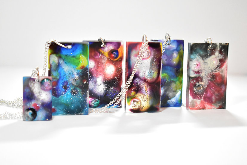 Galaxy Rectangle Necklace