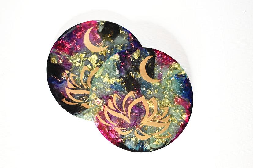 Blooming Lotus Coasters (4 Set)