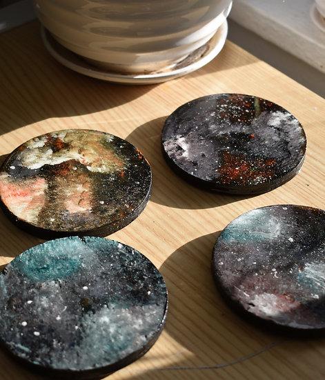 Explosive Galaxy Coasters (4 Set)