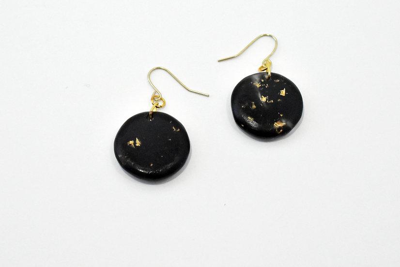 Golden Full Moon Earrings