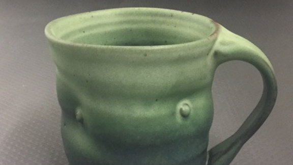 Light Reitz Green Small Dented Mug