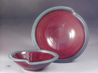 Dented Serving Bowl