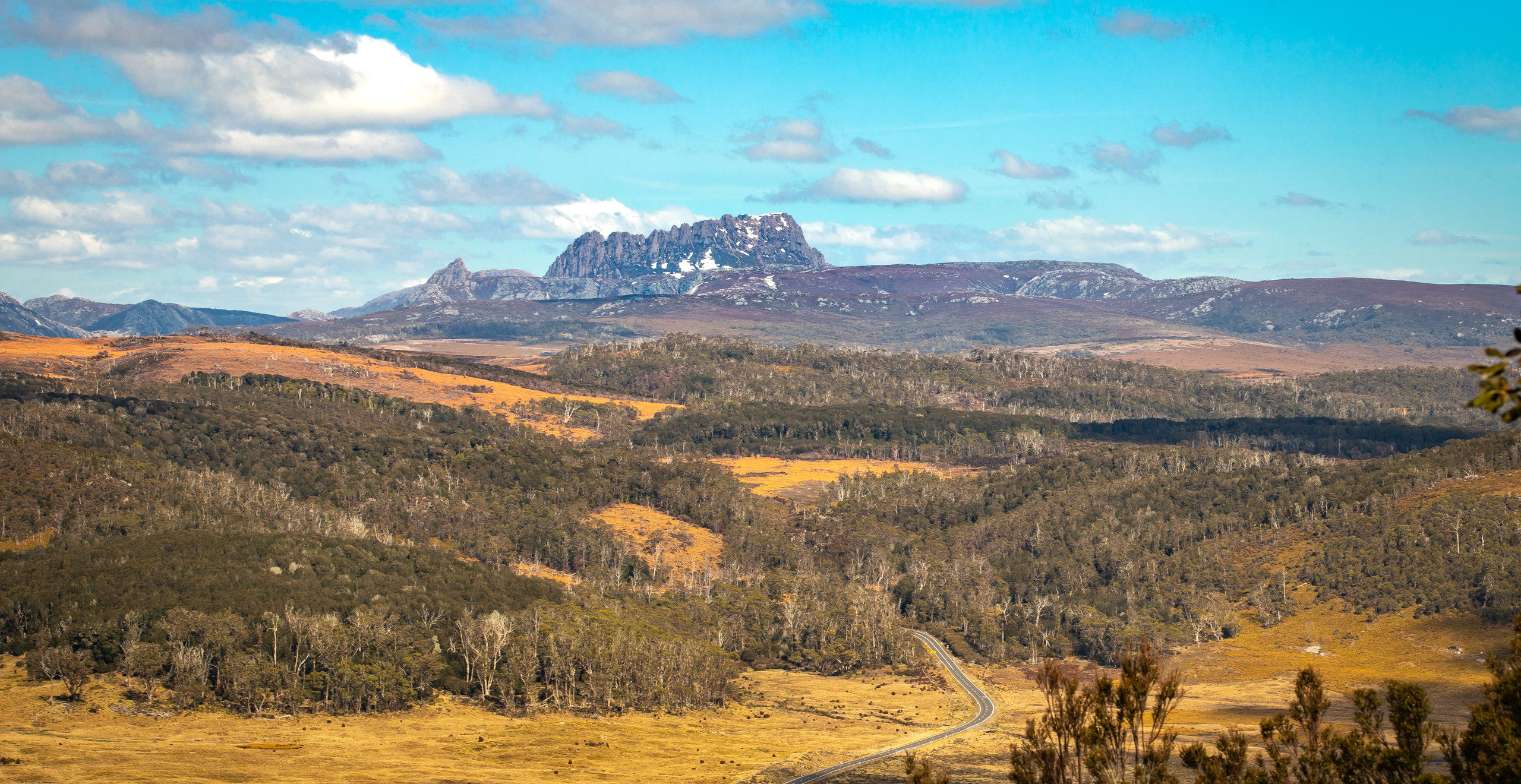 View of Cradle Mountain from Black Bluff, Tasmania