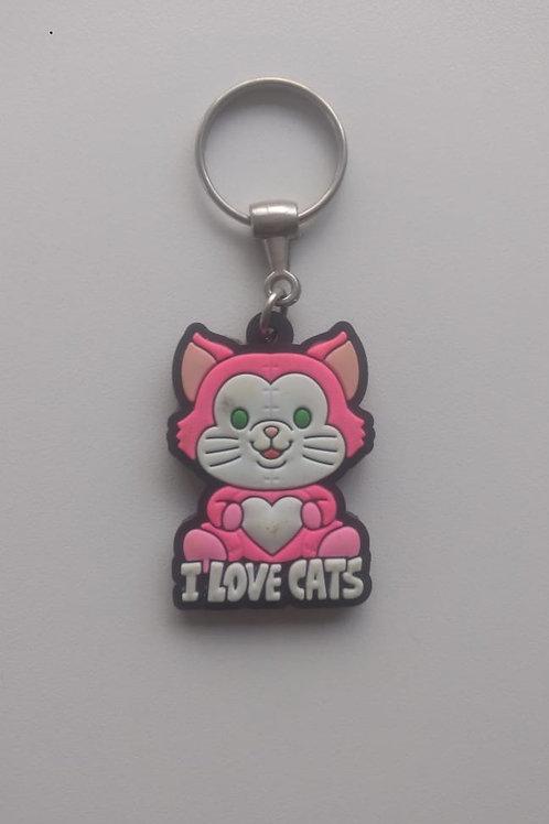 Chaveiros I Love Cats