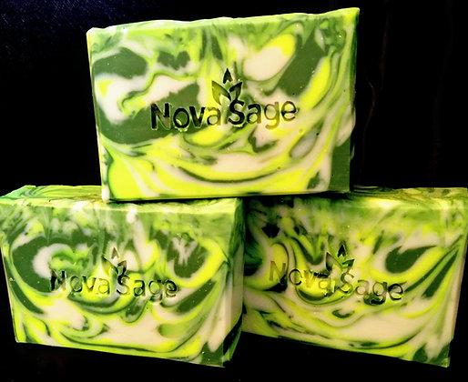 Earthy Basil CP soap