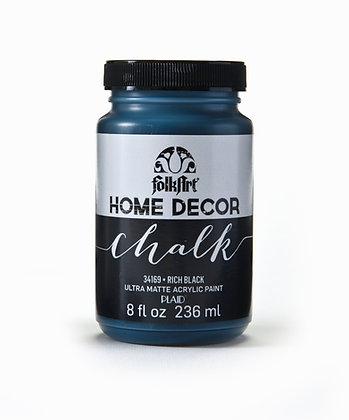 Folk Art Home Decor Chalk Paint-Rich Black