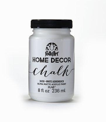 Folk Art Home Decor Chalk Paint-White Adirondack