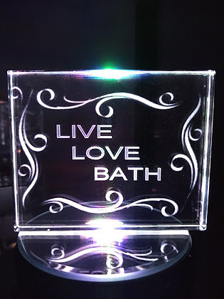 Crystal Live, Love, Bath on lit base