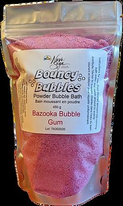 Bouncy Bubbles Powder Bubble Bath- Bazooka Bubble Gum 450g