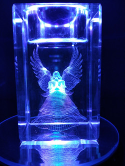 3D Angel on small tea light candle