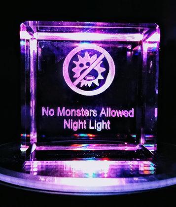 "No Monsters Allowed 1.8"" Cube Nightlight Set"