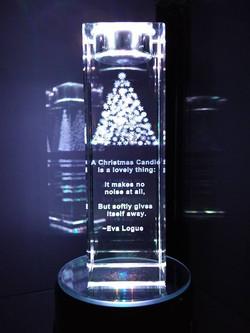 Large tea light candle-Christmas