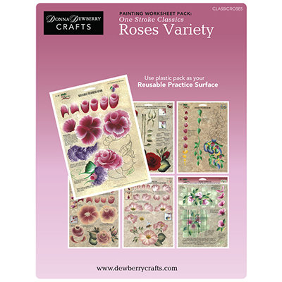 One Stroke Classics Roses Worksheets