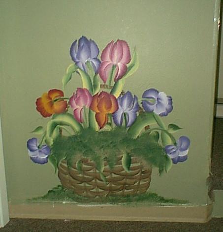 Wall flower basket
