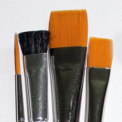 DewU Pro 4 Piece Acrylic Painting Brush Set