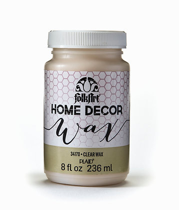 Folk Art Home Decor Clear Wax